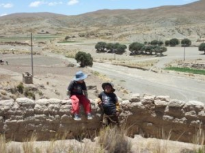Children playing in Paria, Bolivia