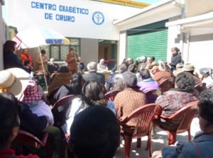 Opening day of medical clinic in Paria, Bolivia